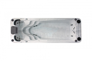 Aquatic 2 passion spa hot tub from the pure collection side view