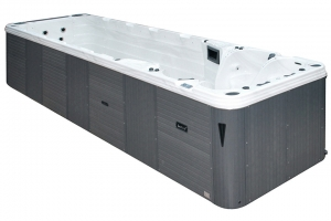 Aquatic 6 passion spa hot tub from the pure collection side view