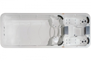 Aquatic 7 passion spa hot tub from the pure collection side view