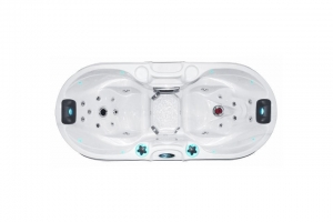 Bliss passion spa hot tub from the pure collection side view